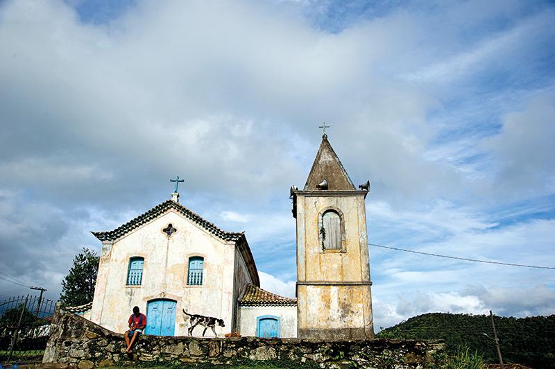 Igreja da matriz com mais de 200 anos, na vila de Conceição de Ibitipoca